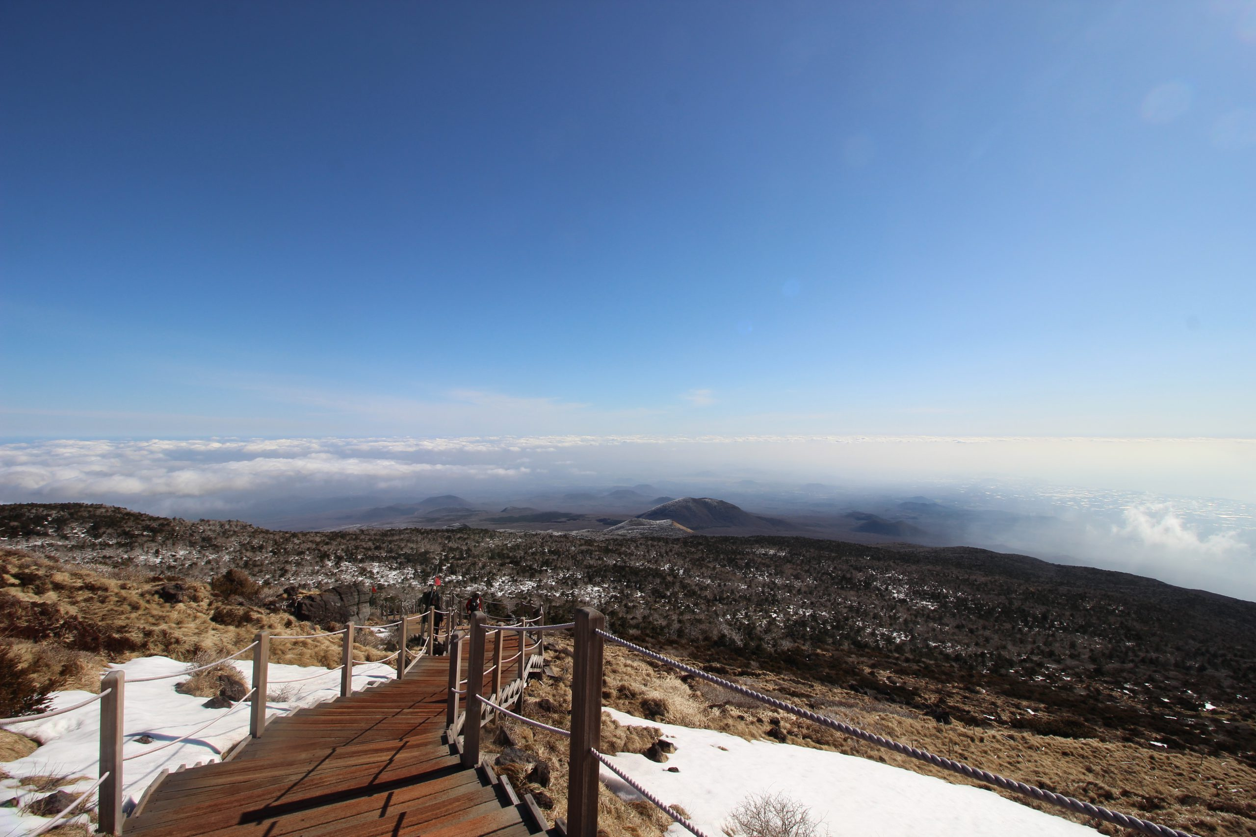 Hallasan vulkaan Jeju eiland uitzicht